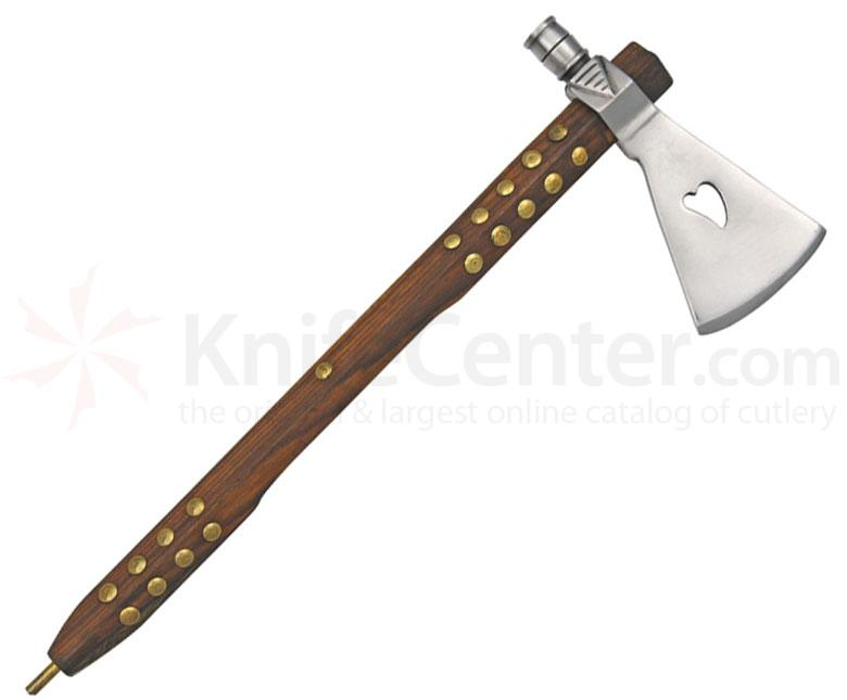 Ceremonial French Chipewa Peace Pipe Tomahawk, 13.75 inch Overall, Functioning Replica