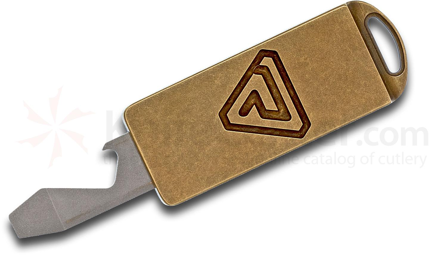 Richard Rogers Custom Brass SlideRR Bottle Opener/Screwdriver/Mini Pry Bar