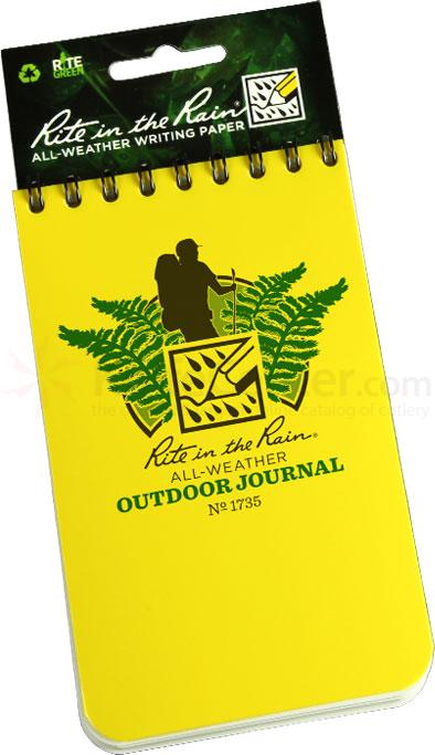Rite in the Rain Universal Polydura Outdoor Notebook, 3 inch x 5 inch, Yellow