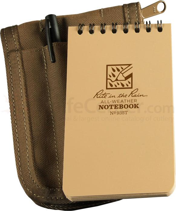 Rite in the Rain Universal Tactical Pocket Notebook Kit, 3 inch x 5 inch, Tan