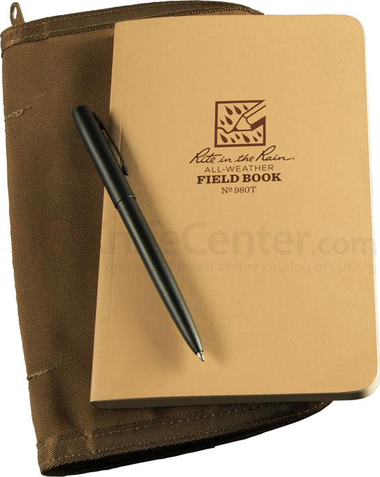 Rite in the Rain Universal Field-Flex Tactical Notebook Kit, 4-5/8 inch x 7-1/2 inch, Tan