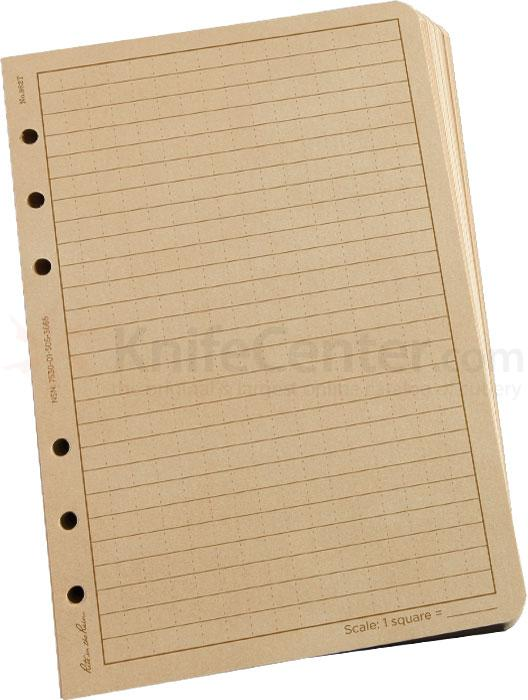 Rite in the Rain Universal Tactical Loose Leaf Paper 4-5/8 inch x 7 inch, 100 Sheets, Tan