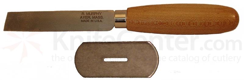 R. Murphy Square Point Shoe Knife 3-3/4 inch Carbon Blade, Natural Wood Handle, Straight Guard