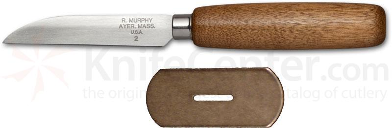 R. Murphy Sharp Point Shoe Knife 3-1/8 inch Carbon Blade, Brown Handle, Straight Guard