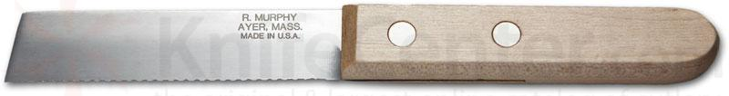 R. Murphy Mill Knife 4 inch Serrated Blade, Natural Wood Handle