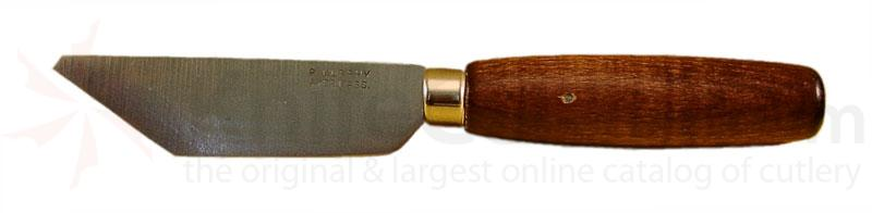 R. Murphy Bevel Point Rubber Knife: 4 inch X 1 1/16 inch  Blade, Brown Handle