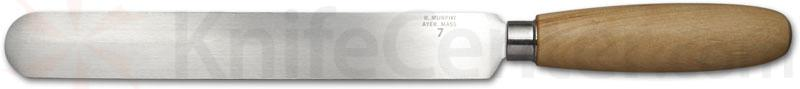 R. Murphy Round Point Skiving Knife 7 inch Carbon Blade, Natural Wood Handle