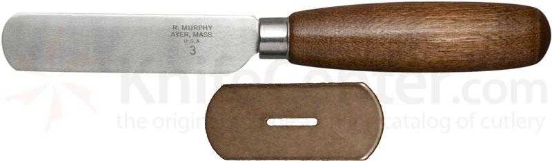 R. Murphy Square Point Skiving Knife 7 inch Blade, Straight Guard, Natural Wood Handle