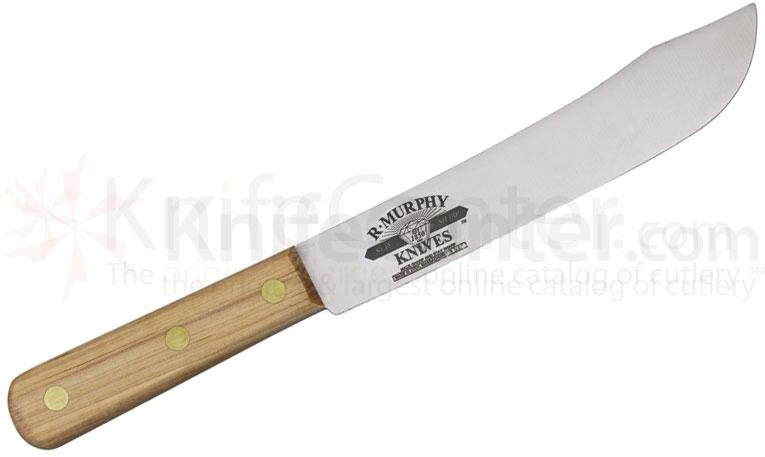 R. Murphy Butcher Knife 8 inch Carbon Steel Blade, Hardwood Handle