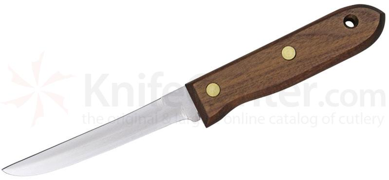 R. Murphy Patherfinder Knife 5 inch Plain Double Edge Carbon Blade, Rosewood Handle
