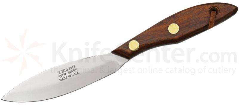 R. Murphy Skinning Knife 4-1/4 inch 1095 Carbon Blade, Cocobolo Wood Handle with Lanyard
