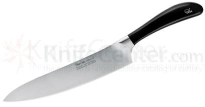 Robert Welch Signature 8 inch Chef's Knife, German DIN 1.4116 Stainless Steel Blade, Black Handle