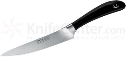 Robert Welch Signature 5.5 inch Utility Knife, German DIN 1.4116 Stainless Steel Blade, Black Handle