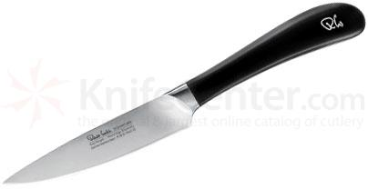 Robert Welch Signature 4 inch Paring Knife, German DIN 1.4116 Stainless Steel Blade, Black Handle