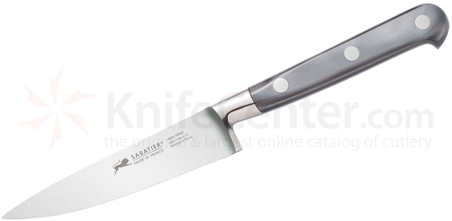 Sabatier Faux Mother of Pearl Series Paring Knife 4 inch Stainless Steel Blade, Plexiglas Handles