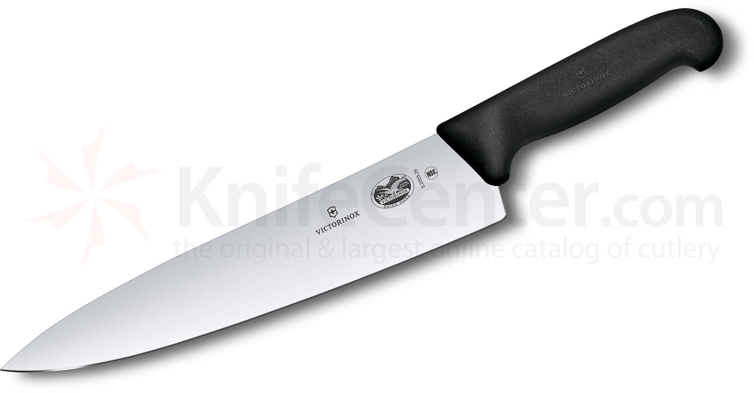 Victorinox Forschner Fibrox 10 inch Chef's Knife, Black TPE Handle