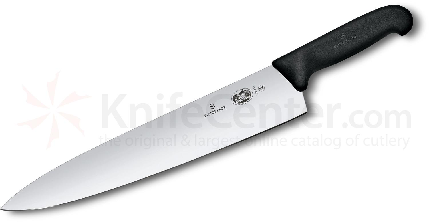 Victorinox Forschner Fibrox 12 inch Chef's Knife, Black TPE Handle