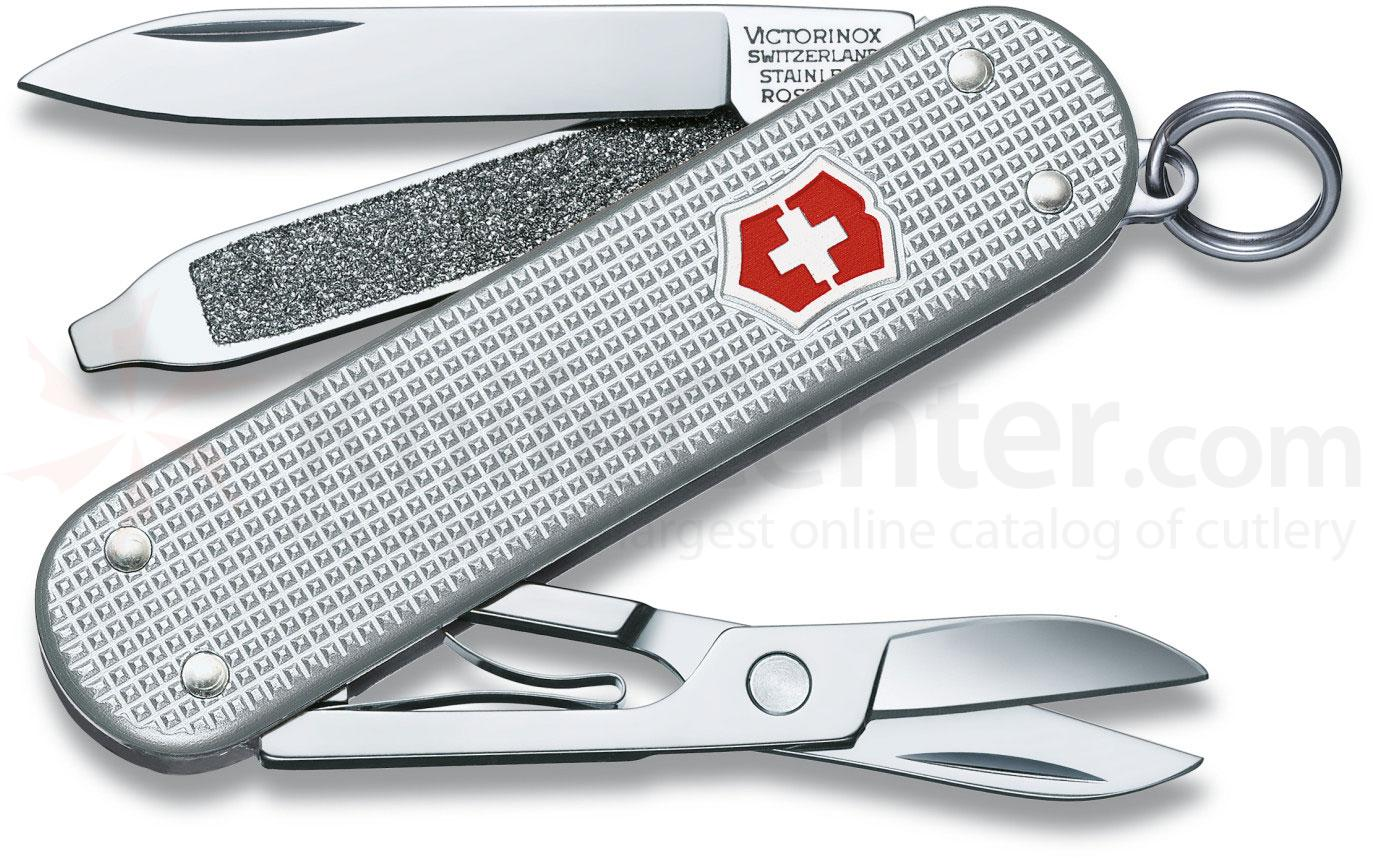 Victorinox Swiss Army Classic SD Multi-Tool, 2.25 inch Silver Alox Handles