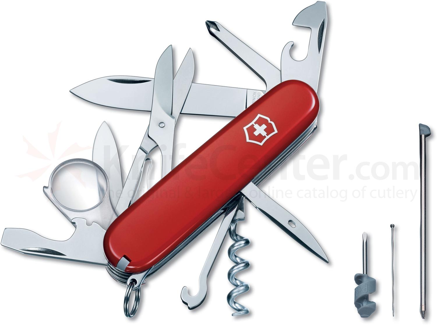 Victorinox Swiss Army Explorer Plus Multi-Tool, Red, 3.58 inch Closed