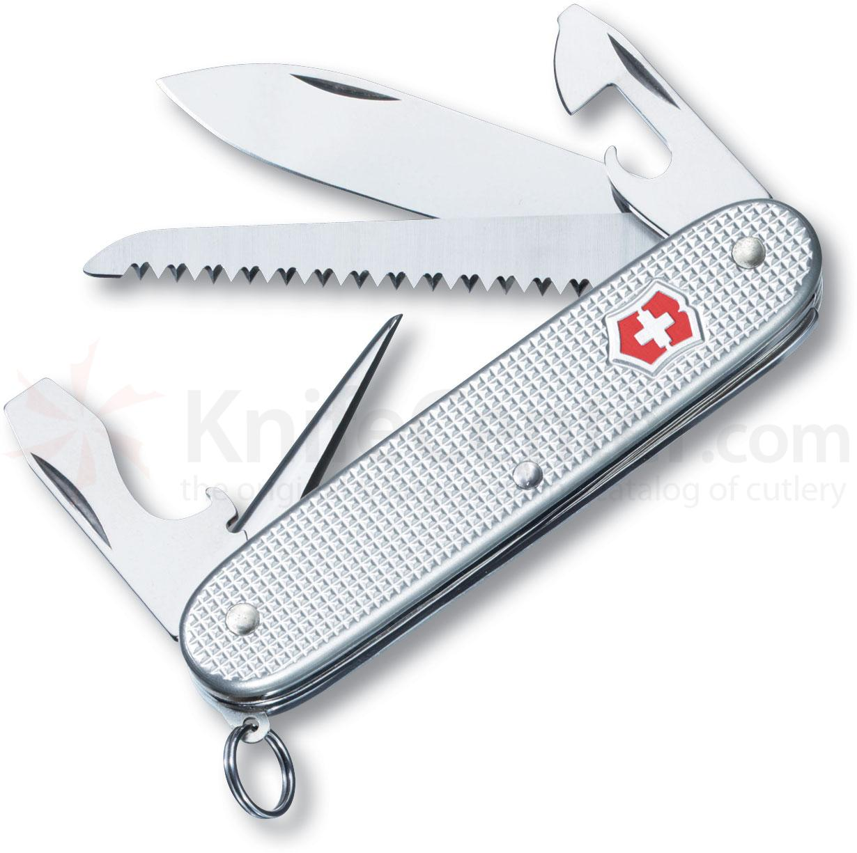 Victorinox Swiss Army Farmer Multi-Tool, Silver Alox, 3.58 inch Closed