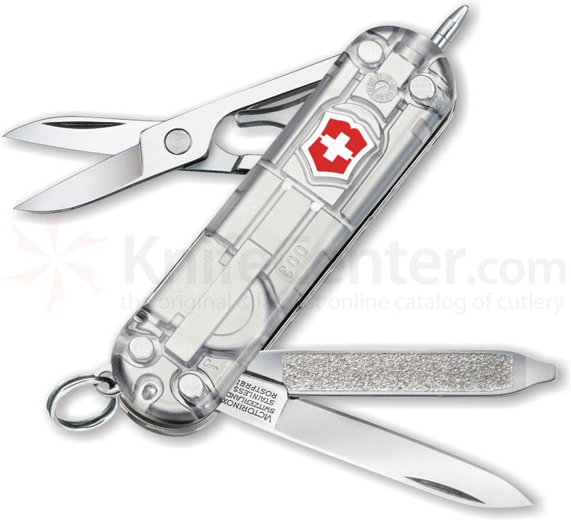 Victorinox Swiss Army Silver Tech Signature Lite, 2-1/4 inch Handle