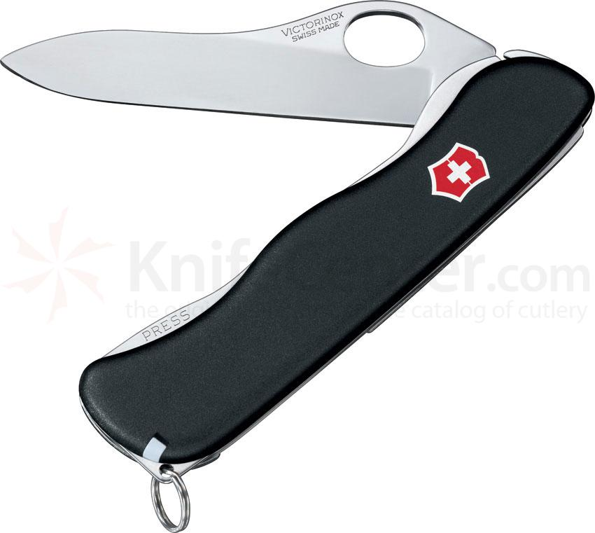 Victorinox Swiss Army One-Hand Sentinel Non-Serrated Multi-Tool with Clip, Black, 4.37 inch Closed
