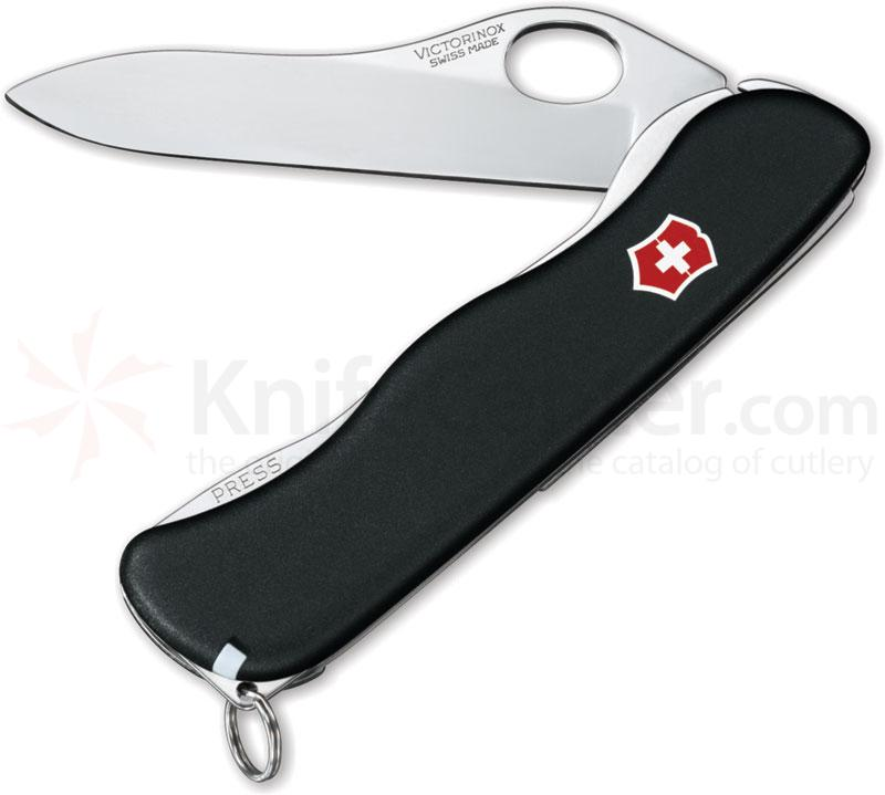 Victorinox Swiss Army One-Hand Sentinel, Non-Serrated, 4 3/8 inch Handle