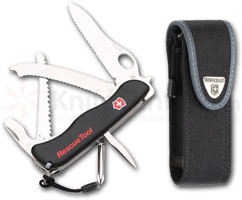 Victorinox Swiss Army Rescue Tool with Black Handles