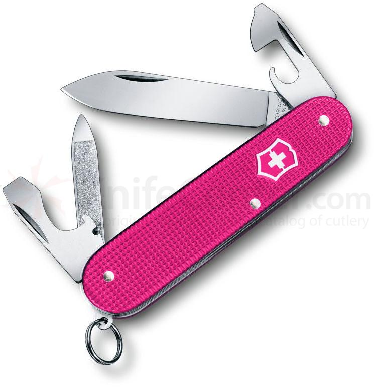 Victorinox Swiss Army Cadet Multi-Tool, Pink Alox, 3.25 inch Closed