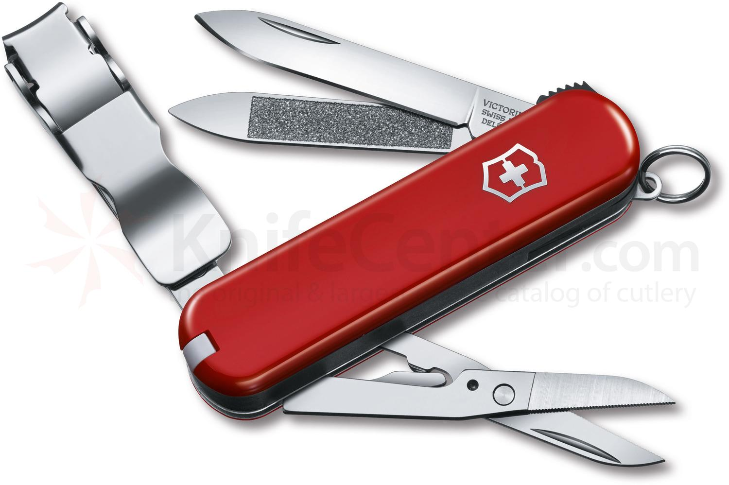 Victorinox Swiss Army Nail Clip 580 Multi-Tool 2-1/2 inch Red Handles (0.6463.US2)