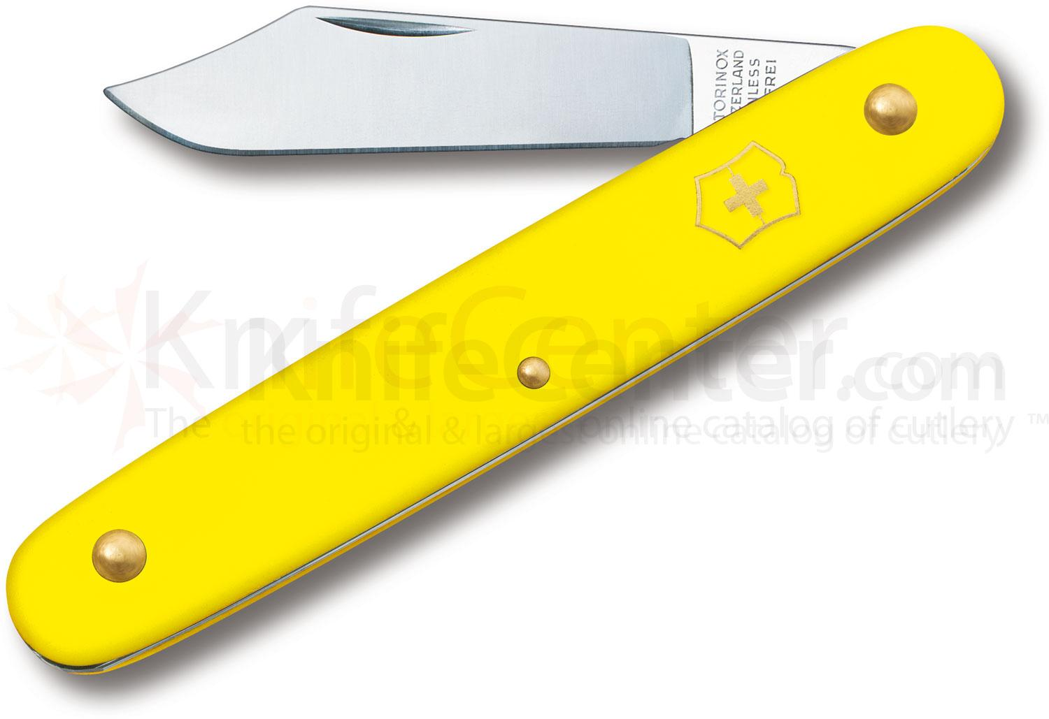 Victorinox Swiss Army Day Packer Utility Knife, 4 inch Yellow Handles