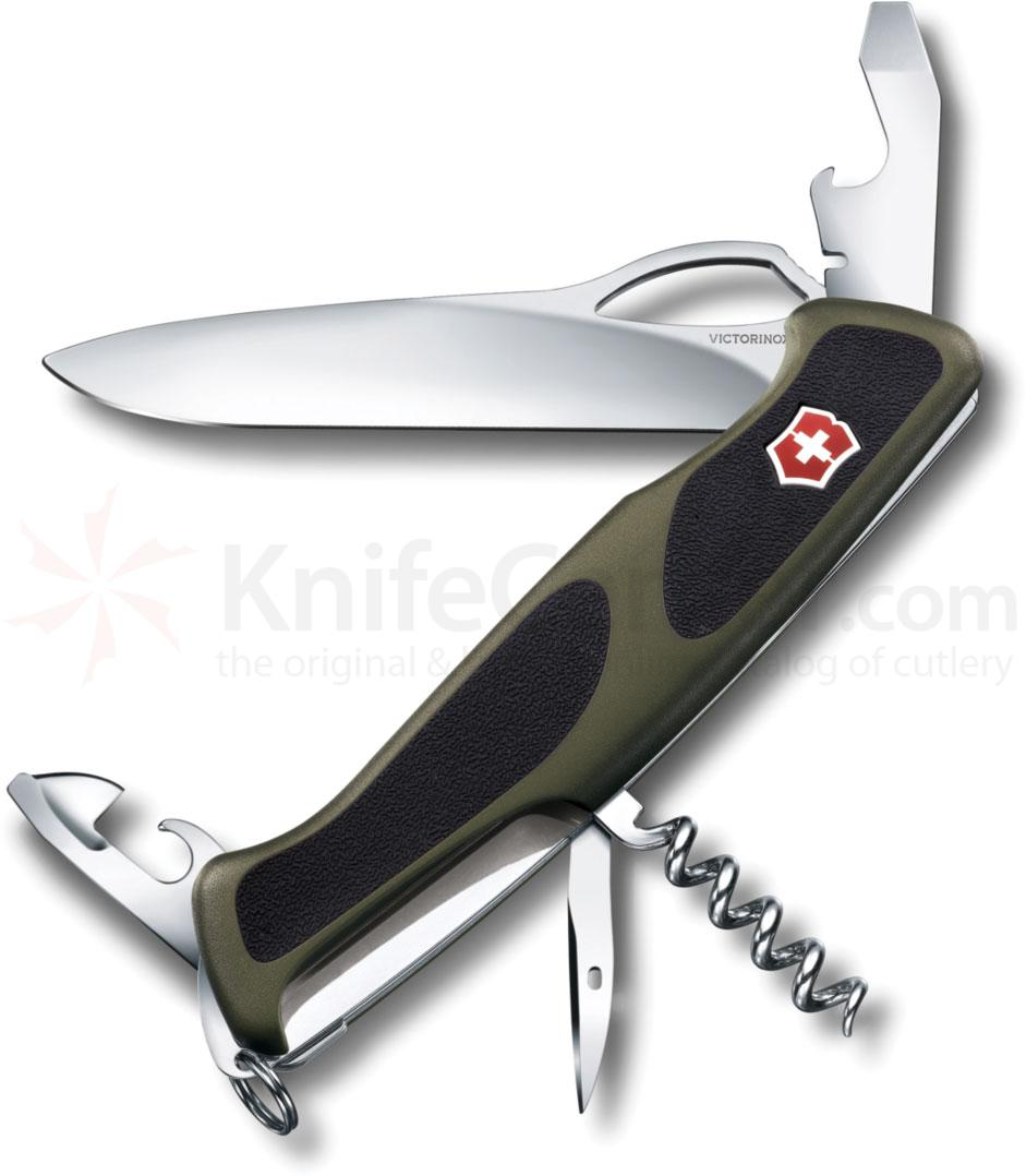 Victorinox Swiss Army RangerGrip 61 Multi-Tool 5-1/8 inch OD Green Handles with Black Rubber Inserts