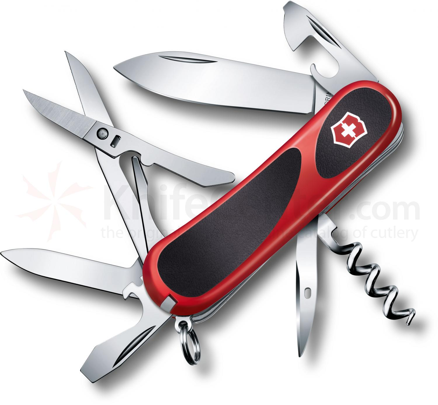Victorinox Swiss Army 2.3903.C EvoGrip 14 Multi-Tool 3-3/8 inch Red Handles with Black Rubber Inserts