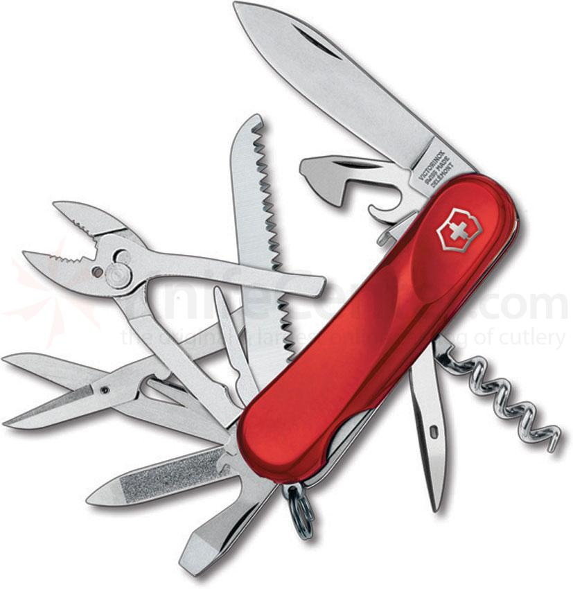 Victorinox Swiss Army 2.3953.SE Locking Evolution S52 Multi-Tool 3-3/8 inch Red Handles