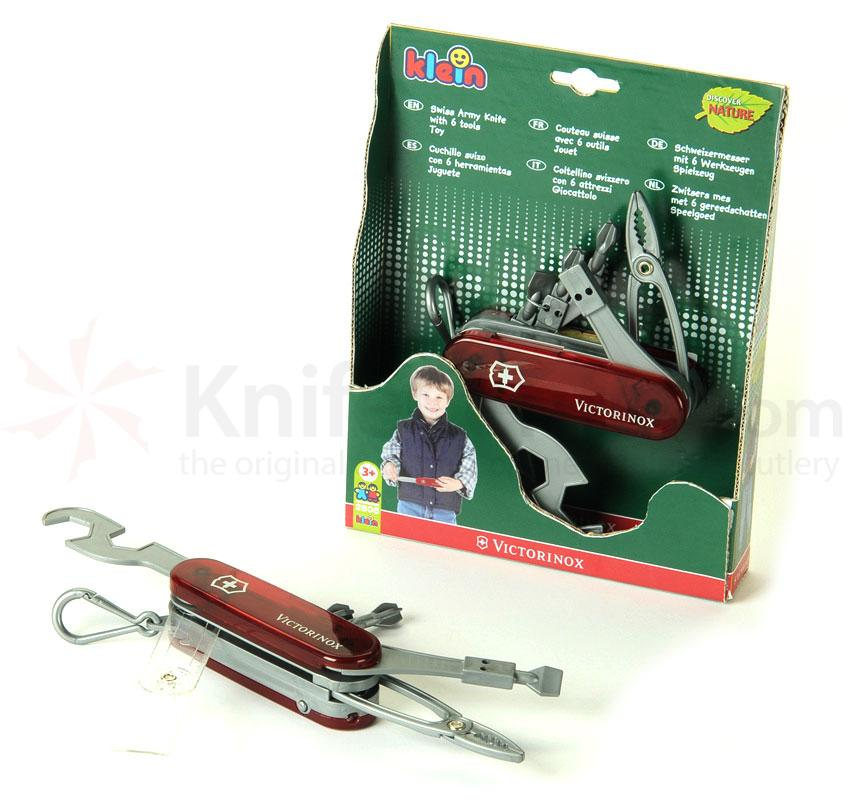 Toy Swiss Army Knife By Theo Klein Translucent Red