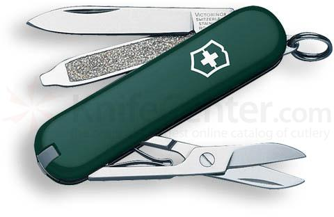 Victorinox Swiss Army Classic SD Multi-Tool, 2-1/4 inch Hunter Green Handles
