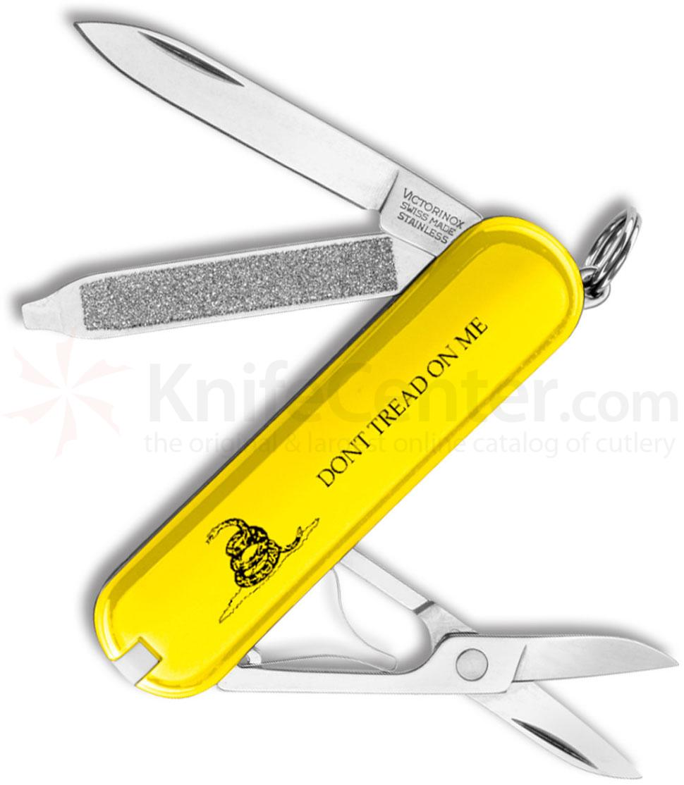 Victorinox Swiss Army Classic SD Multi-Tool, Gadsden Flag  inchDon't Tread On Me inch Yellow, 2-1/4 inch Closed