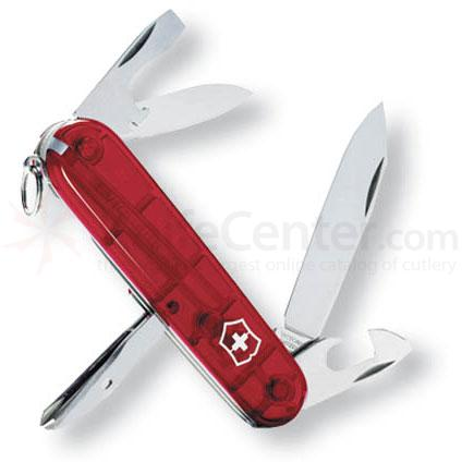 Victorinox Swiss Army Tinker Multi-Tool, 3-1/2 inch Ruby Translucent Handles