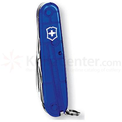 Victorinox Swiss Army Tinker Multi-Tool, 3-1/2 inch Sapphire Translucent Handles