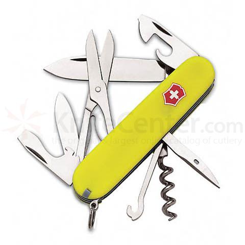 Victorinox Swiss Army Climber Multi-Tool 3-1/2 inch Fluorescent Yellow Handles