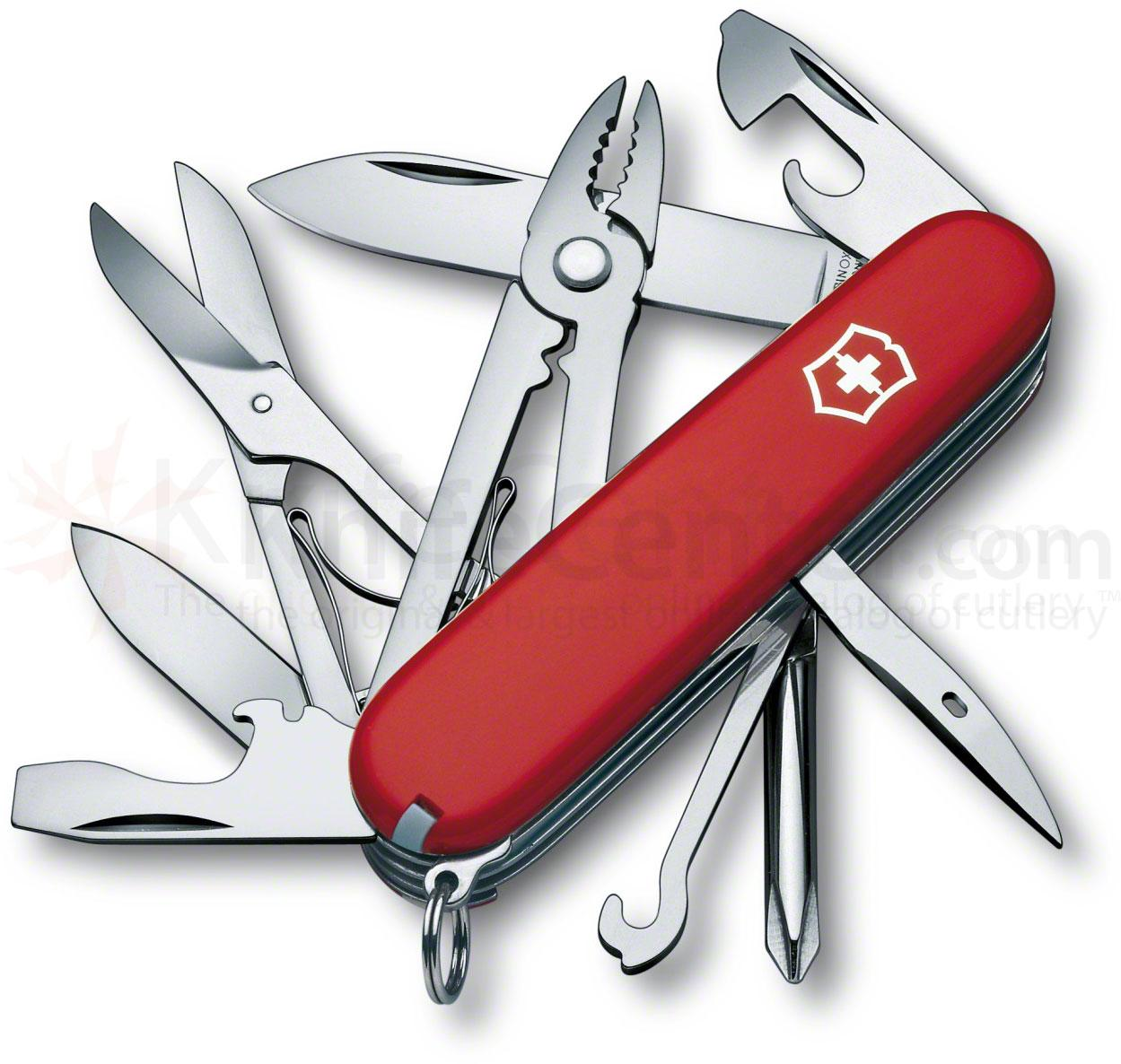 Victorinox Swiss Army Deluxe Tinker Multi-Tool, 3-1/2 inch Red Handles