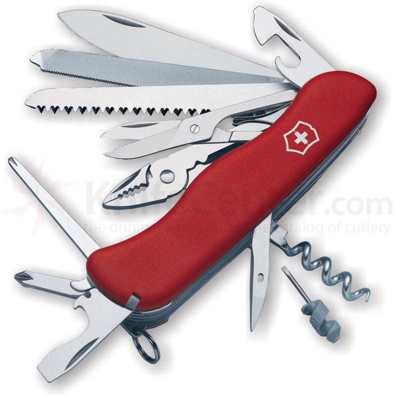 Victorinox Swiss Army Workchamp Multi-Tool, 4-3/8 inch Red Handles