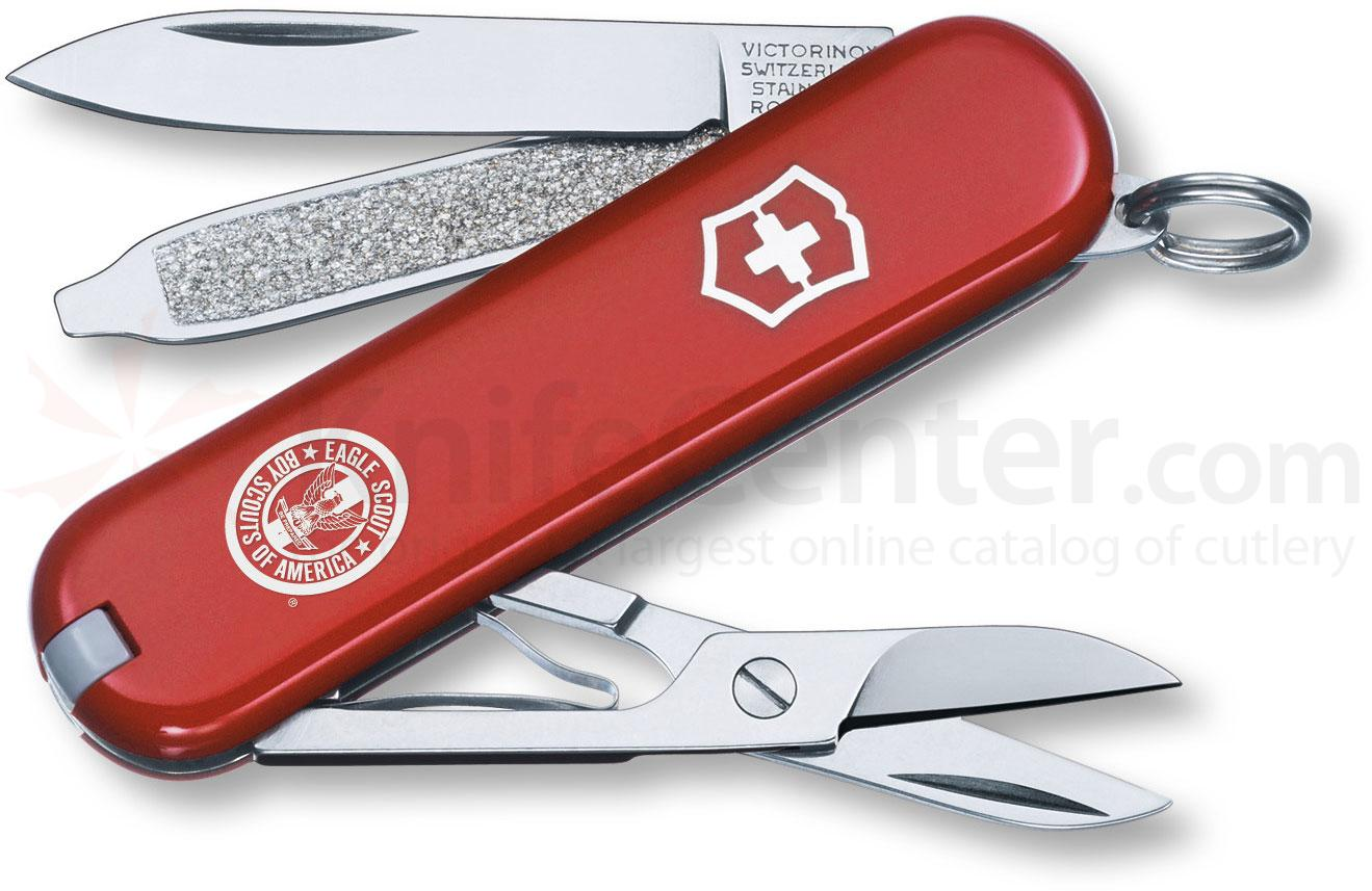 Victorinox Swiss Army Classic SD Eagle Scout Multi-Tool, 2-1/4 inch Red Handles