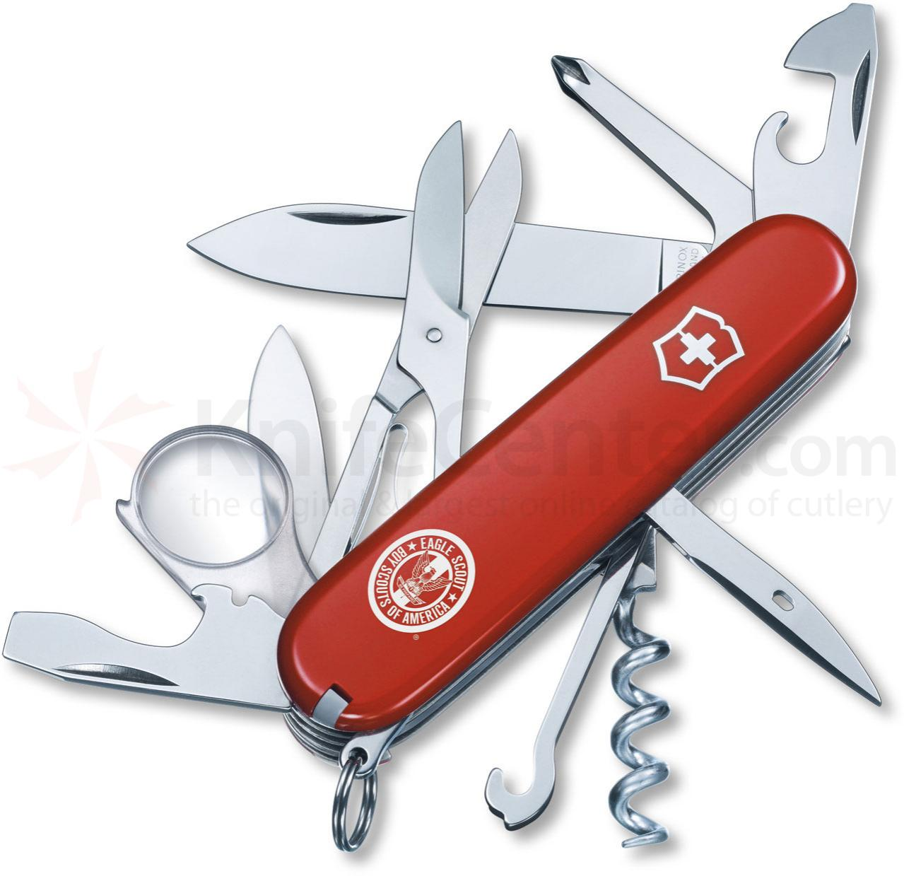Victorinox Swiss Army Explorer Eagle Scout Multi-Tool, 3-1/2 inch Red Handles