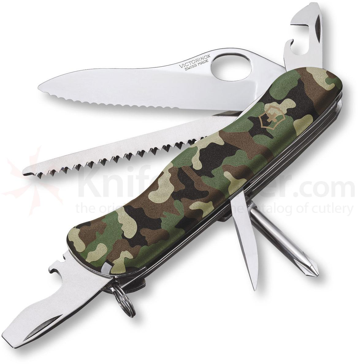 Victorinox Swiss Army One-Hand Trekker Serrated Multi-Tool, Camouflage, 4.37 inch Closed