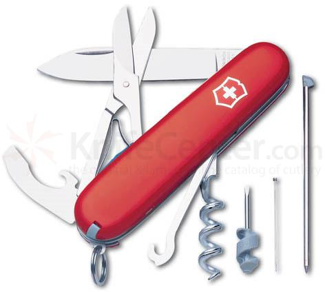Victorinox Swiss Army Compact Multi-Tool, 3 1/2 inch Red Handles