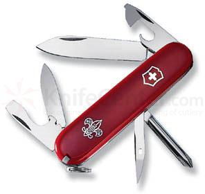 Victorinox Swiss Army Tinker Multi-Tool. 3-1/2 inch Boy Scout Logo Red Handles