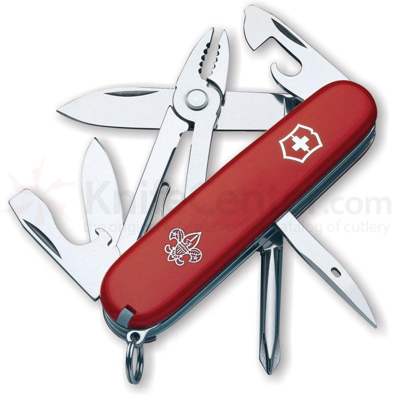 Victorinox Swiss Army Mechanic Multi-Tool, 3-1/2 inch Boy Scout Logo Red Handles