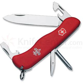 Victorinox Swiss Army Adventurer Multi-Tool, 4-3/8 inch Boy Scout Logo Red Handles
