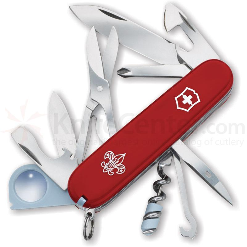 Victorinox Swiss Army Explorer Multi-Tool, 3-1/2 inch Boy Scout Logo Red Handles